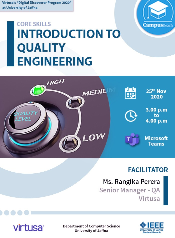 Emerging Skills Session 2 - Introduction to Quality Engineering 