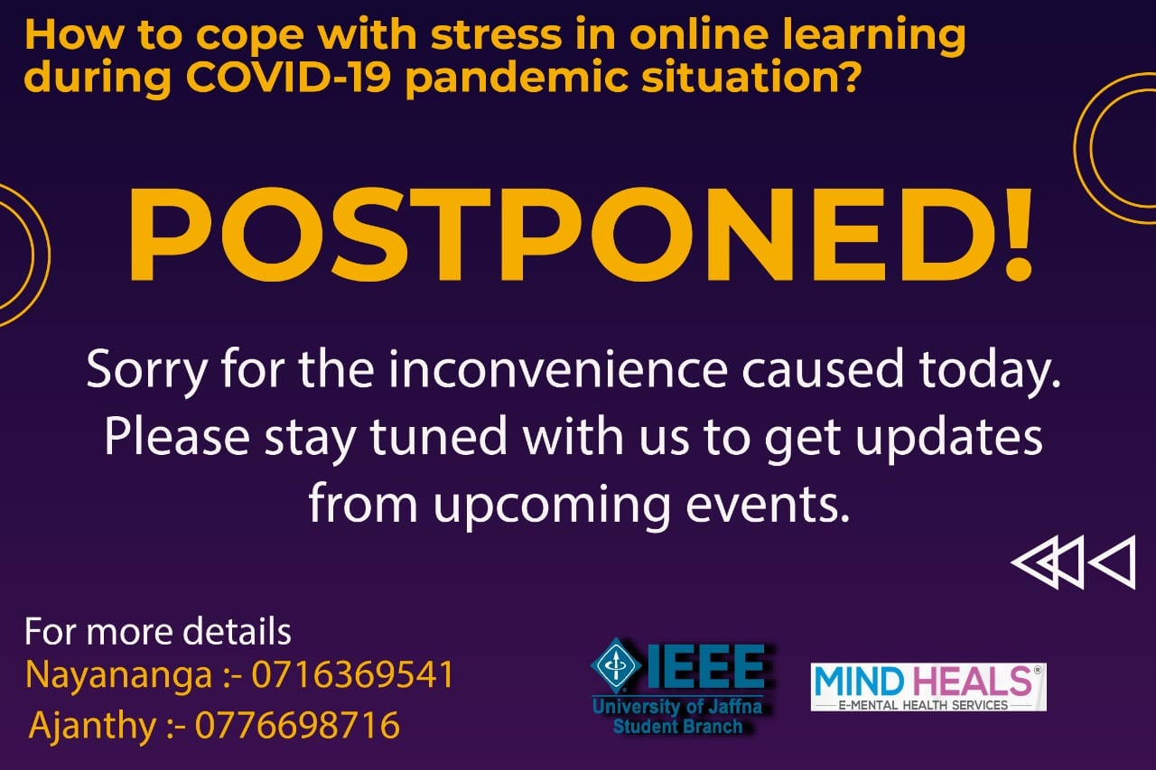 How to Cope with Stress(webinar) – Postponed!