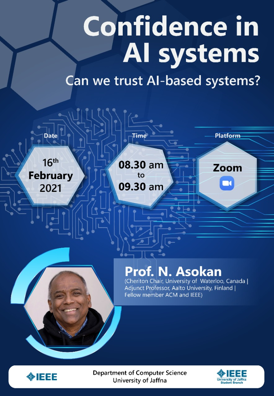 Confidence in AI systems: Can we trust AI-based systems?  (webinar)